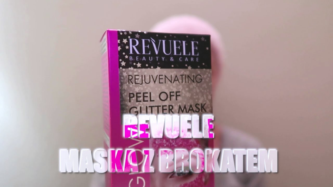 REVUELE colour GLOW, glam effect, peel off GLITTER facemask