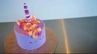 Einfache Einhorn Torte - Glitzernde Unicorn Torte Tutorial - Kuchenfee