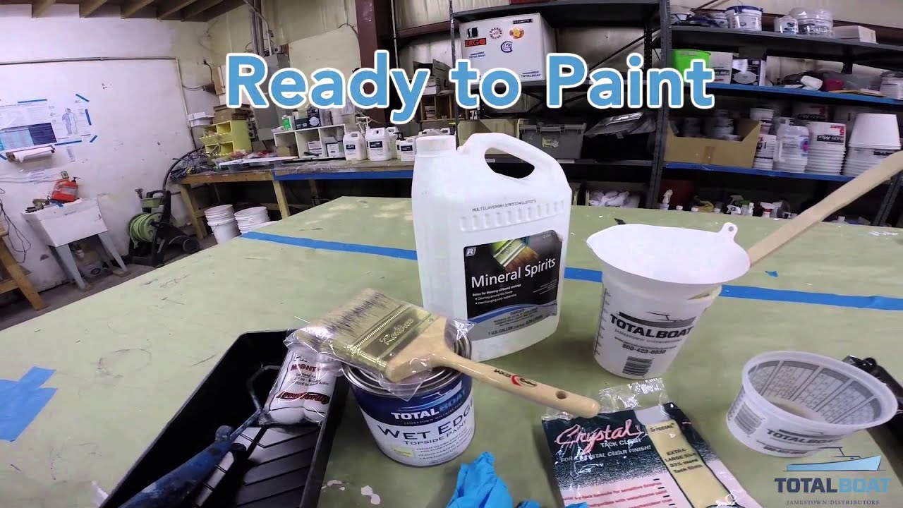 the best way to roll tip topside paint on your boat