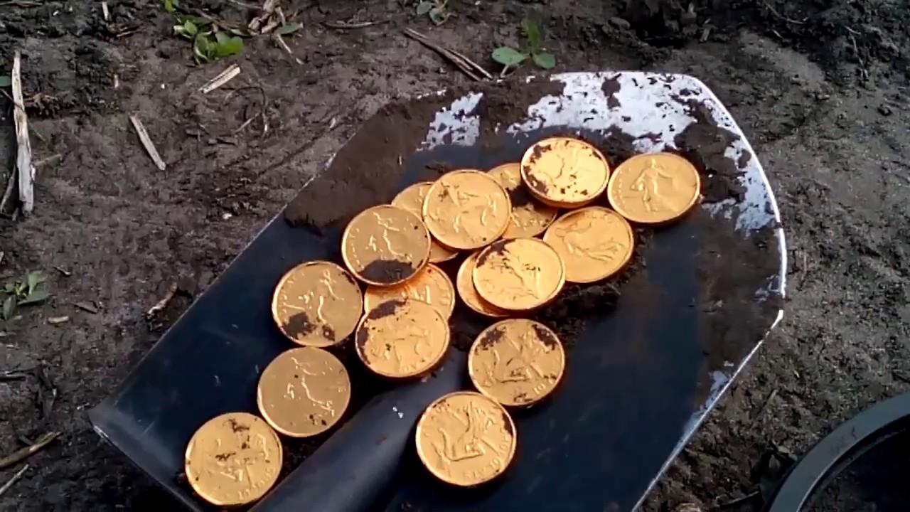 Клад!!!! золотых редких монет!!! Я богат!!! в поисках клада .