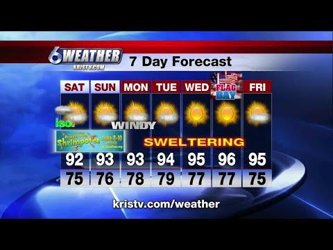 Coastal Bend weather forecast 6/8/18 6PM
