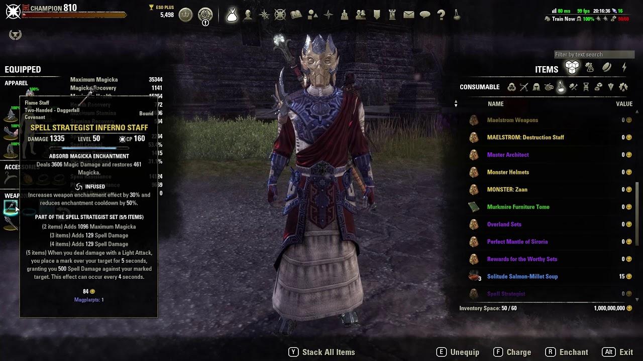 Magicka Templar build by NosferatuZod - Murkmire Ready