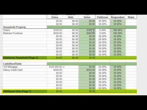 marital balance sheet youtube
