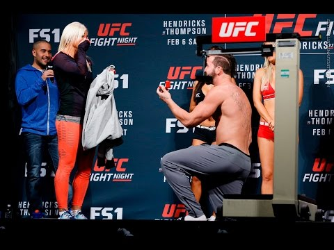 UFC's Alex Nicholson Proposes to Girlfriend During Weigh-Ins