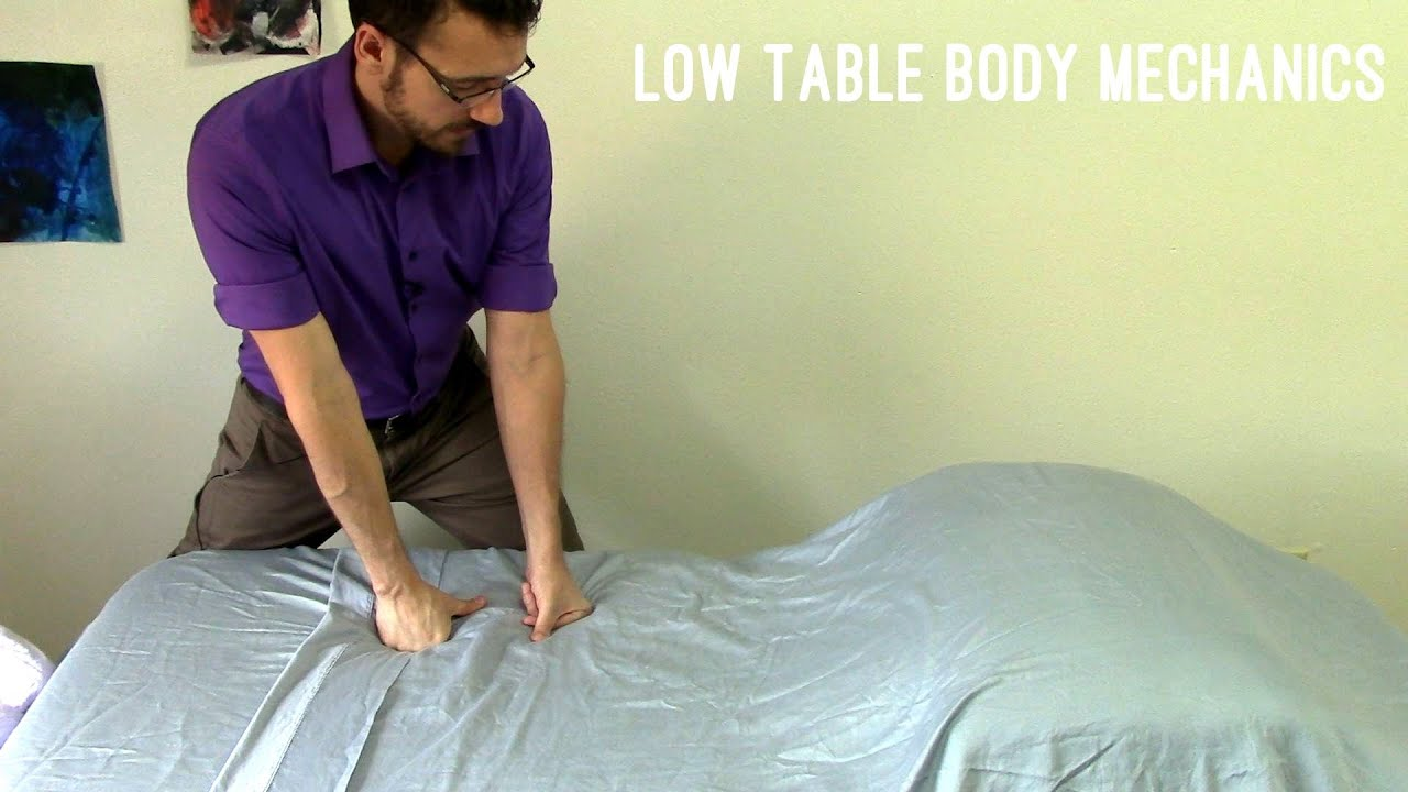 Massage Tutorial: Body mechanics for low tables - YouTube