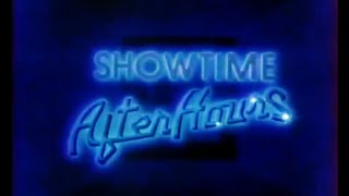 SHOWTIME AFTER HOURS Bumper From 1985. Cable TV Naughty Movies Intro Segment.