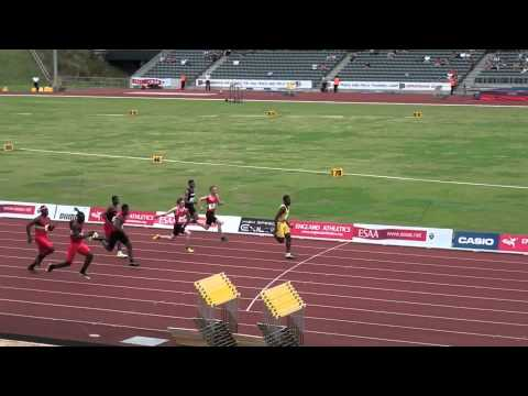 Junior Boys 100m - English Schools' AA track and field champs