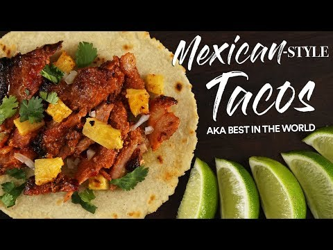 Mexican-Style TACOS from Scratch Tacos Al Pastor | Guga Foods