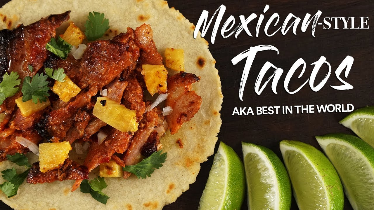 Download Mexican-Style TACOS from Scratch - Tacos Al Pastor | Guga Foods