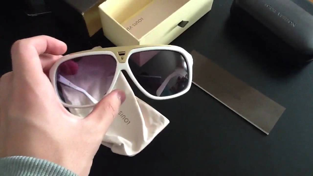 9050c66b76a White Louis Vuitton Evidence Sunglasses - YouTube