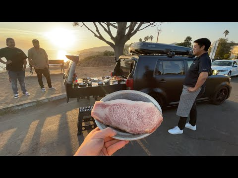 I tried $800 Korean BBQ out of this Car