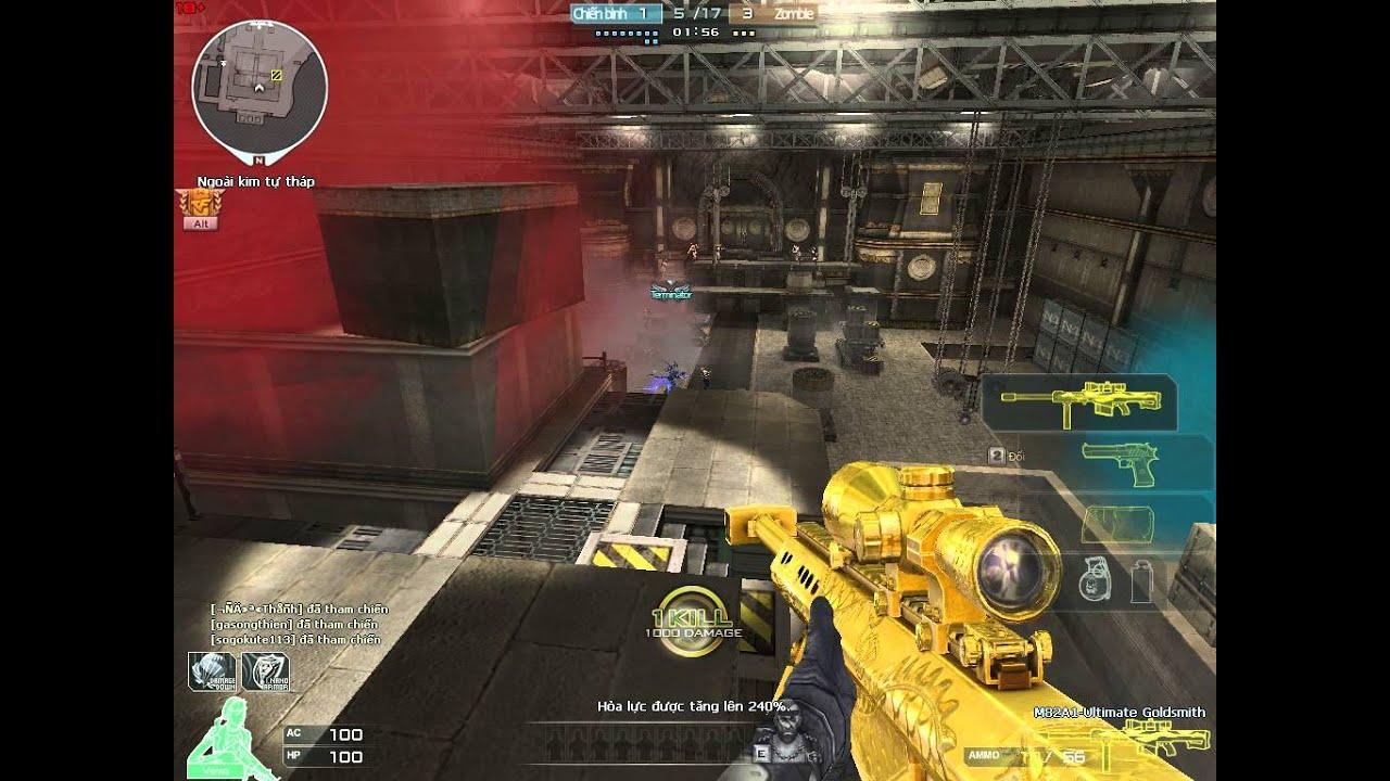 [CFVN + Bình Luận] Bình Đức vs set 3Z + DE + Gạch Ultimate Gold ( sniper gà  thông cảm )