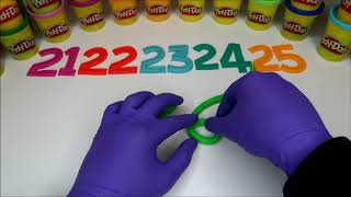 LEARN TO COUNT NUMBERS 21-30 WITH PLAY-DOH In ENGLISH l Squishy Fun
