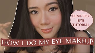 Updated Winged Eyeliner Tut๐rial (Semi-fox eye) | Camille Co