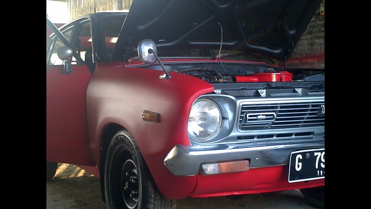 Datsun 120Y Red And Black Dull Painting - YouTube