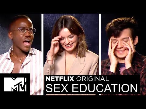 Netflix's Sex Education Cast Play 2 Truths & A Lie & Talk Sex Scenes | MTV Movies