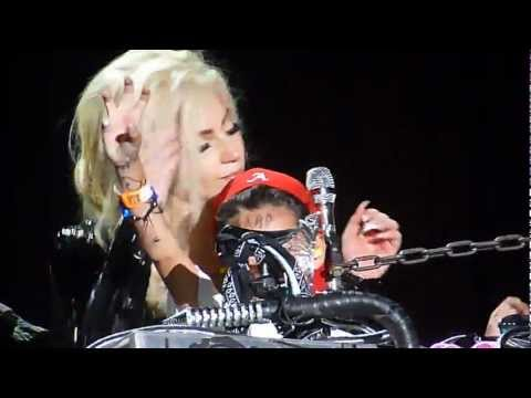 Lady Gaga invites a little boy on stage while singing 'Hair'