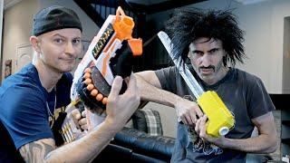 Nerf War: Jupiter vs Nerf Ultra One!