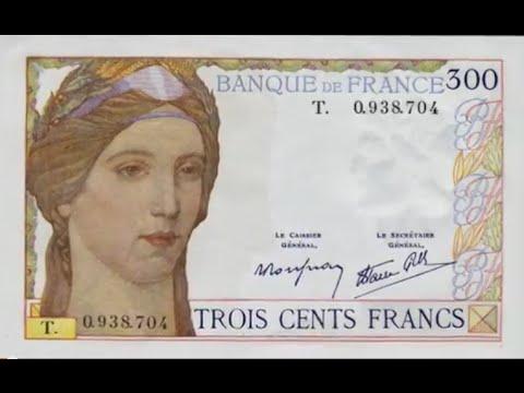 Les Billets Banque De France 300 Francs Serveau Type 1938 Youtube