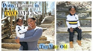How I Potty Trained my Toddler in Two Weeks!