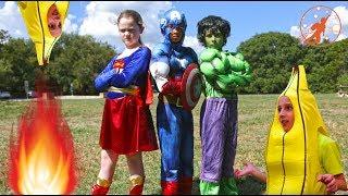 New Sky Kids Super Episode - Little Superheroes Bananas &amp Adventure Kids Nerf War Movie