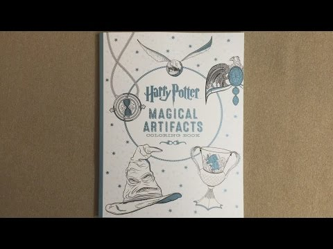 Harry Potter Magical Artifacts Coloring Book Flip Through Youtube