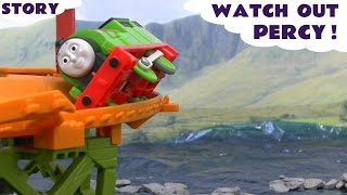 thomas the train play doh minions crash accident story watch out percy play doh thomas toys