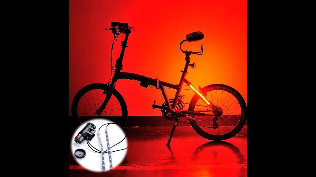 banggood Bike Bicycle Wheel LED Light Lamp Strap Bar 5 Lighting ...