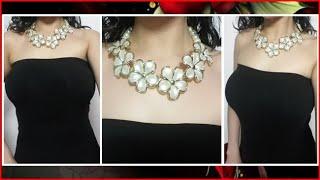 26bbc0a389b4 Como hacer un Collar Fácil De perlas y Mostacilla
