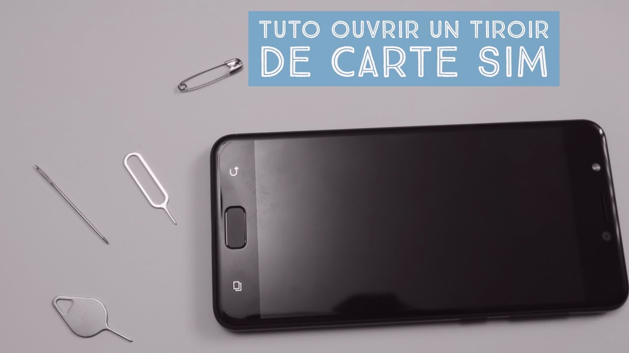 comment enlever carte sim iphone Tuto ouvrir un tiroir de carte SIM   YouTube