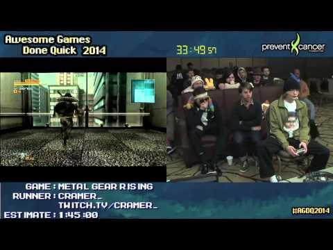 Metal Gear Rising: Revengeance SPEED RUN (1:23:03) (Hard) Live at #AGDQ 2014
