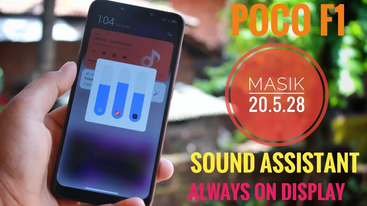 Poco F1   MIUI 12 By Masik 13.1 20.5.28   Install & Review   Sound Assistant & Always-On-Display