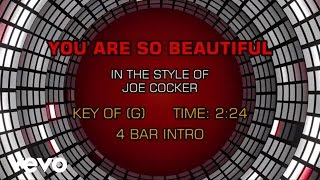 Joe Cocker - You Are So Beautiful (Karaoke)