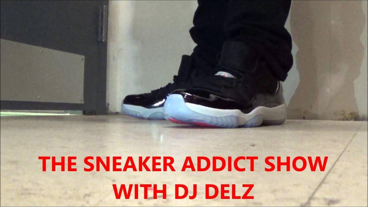 Air Jordan 11 Low Black Infrared 23 Shoe On Foot w  Dj Delz Sneaker Addict  Show XI On Feet - YouTube 2393fe0c5d