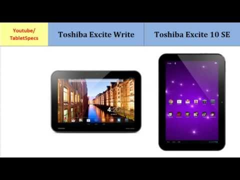 Toshiba Excite Write Versus Toshiba AT300SE, compared to