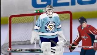 NHL 2K11 Gameplay Wii Capitals vs  Penguins