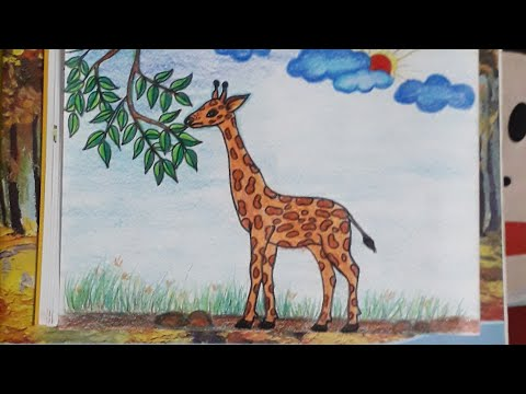 How To Draw A Giraffe For  Kids.