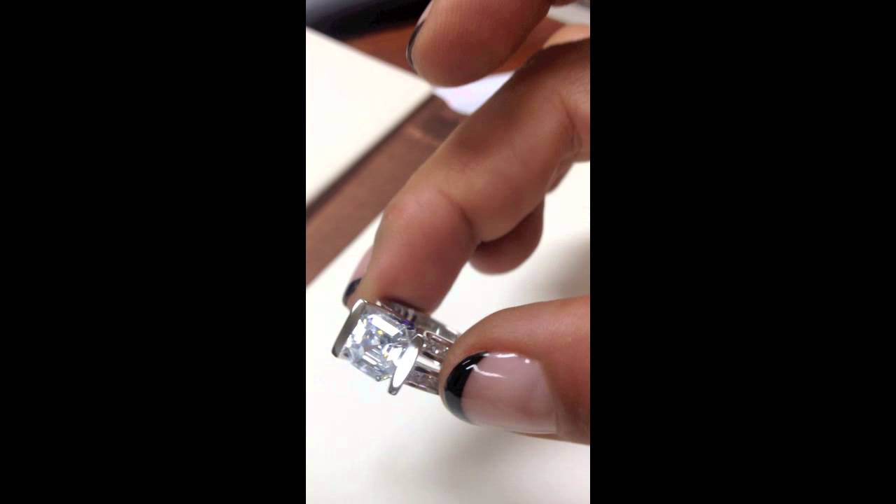 astonishing diamond quality asscher cut cubic zirconia
