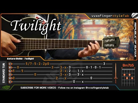 (This Song Very Nice To Learn Fingerstyle) Kotaro Oshio - Twilight Fingerstyle Cover + TABS Tutorial