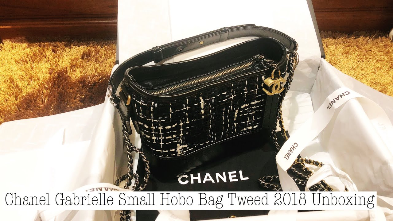 e8583427449 Chanel Gabrielle Small Hobo Bag Tweed 2018 Unboxing - YouTube