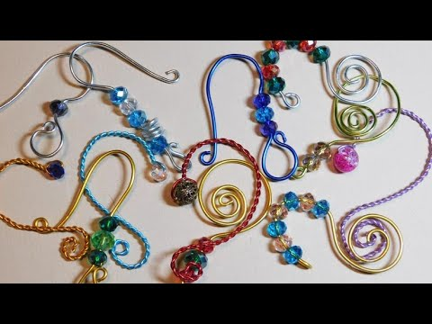 DIY BEADED WIRE ORNAMENT HANGERS, Kids Can Make Using Colored Craft Wire and Crystal Beads