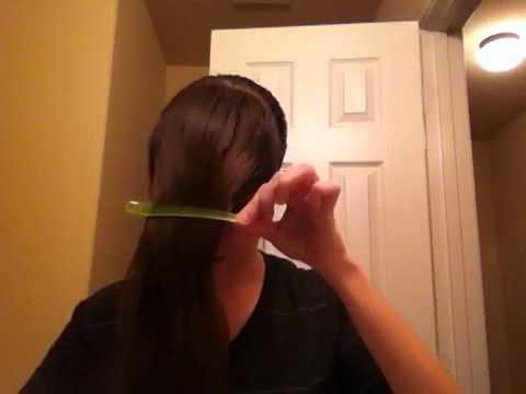 How to Cut Long Bangs Easy