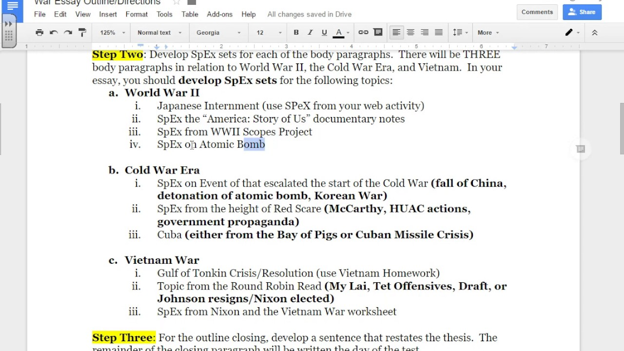 essay war war essay outline directions conclusion paragraph world  war essay outline directions war essay outline directions