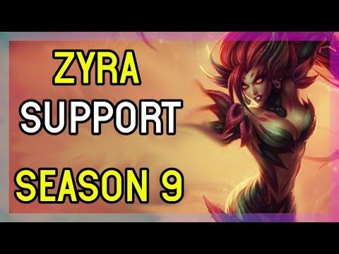 SEASON 9 ZYRA SUPPORT - DIAMOND - LEAGUE OF LEGENDS