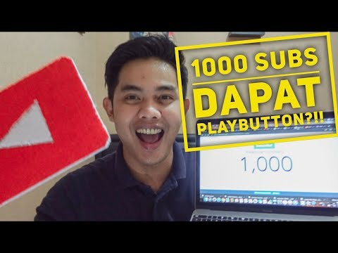 1000 SUBSCRIBER DAPAT YOUTUBE PLAYBUTTON ??!!