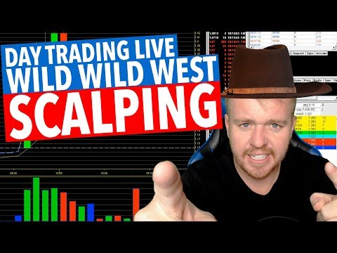 LIVE DAY TRADING! READING LVL 2 SCALPING!