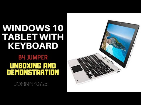Jumper Windows 10 2 In 1 Tablet Computer With Detachable Keyboard Youtube