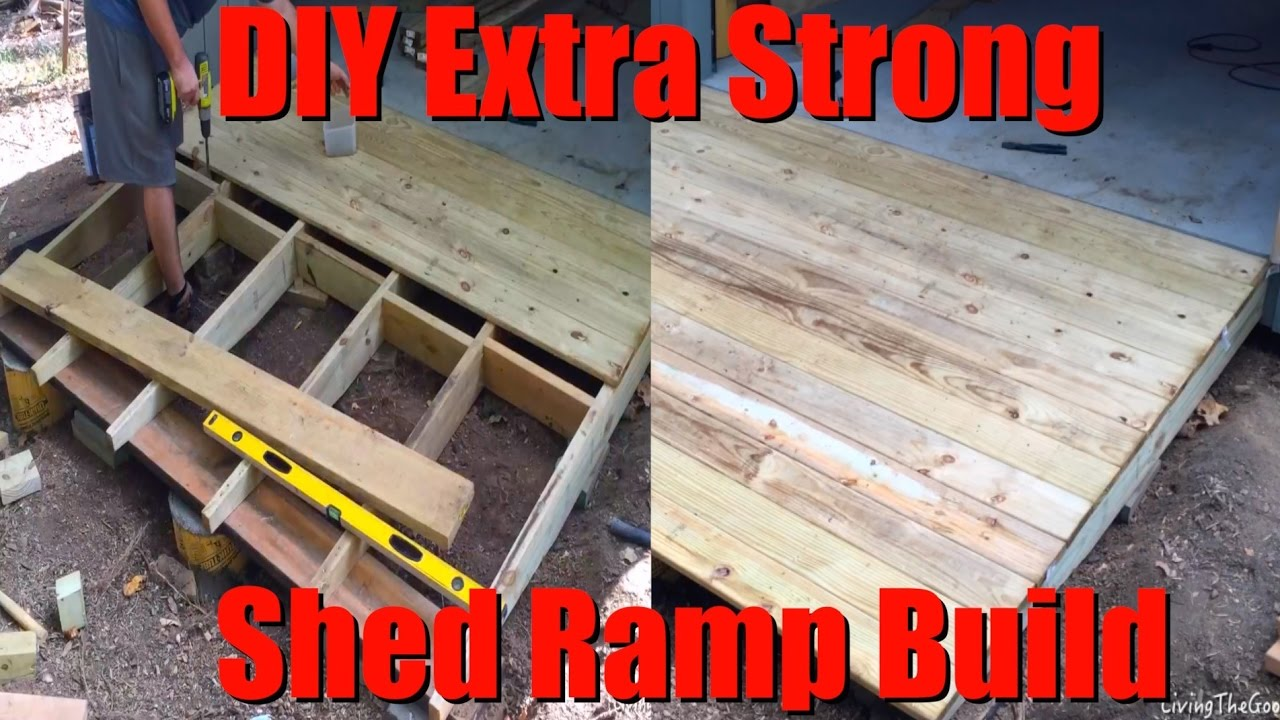 Easy Diy Extra Strong Heavy Duty Shed Ramp Build Low Cost 8 Shack Ramp On A Hill Slope Youtube