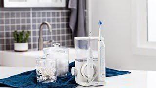 Waterpik CC-01 Complete Care 9.0 Sonic Electric Toothbrush + Water Flosser, White, Medium