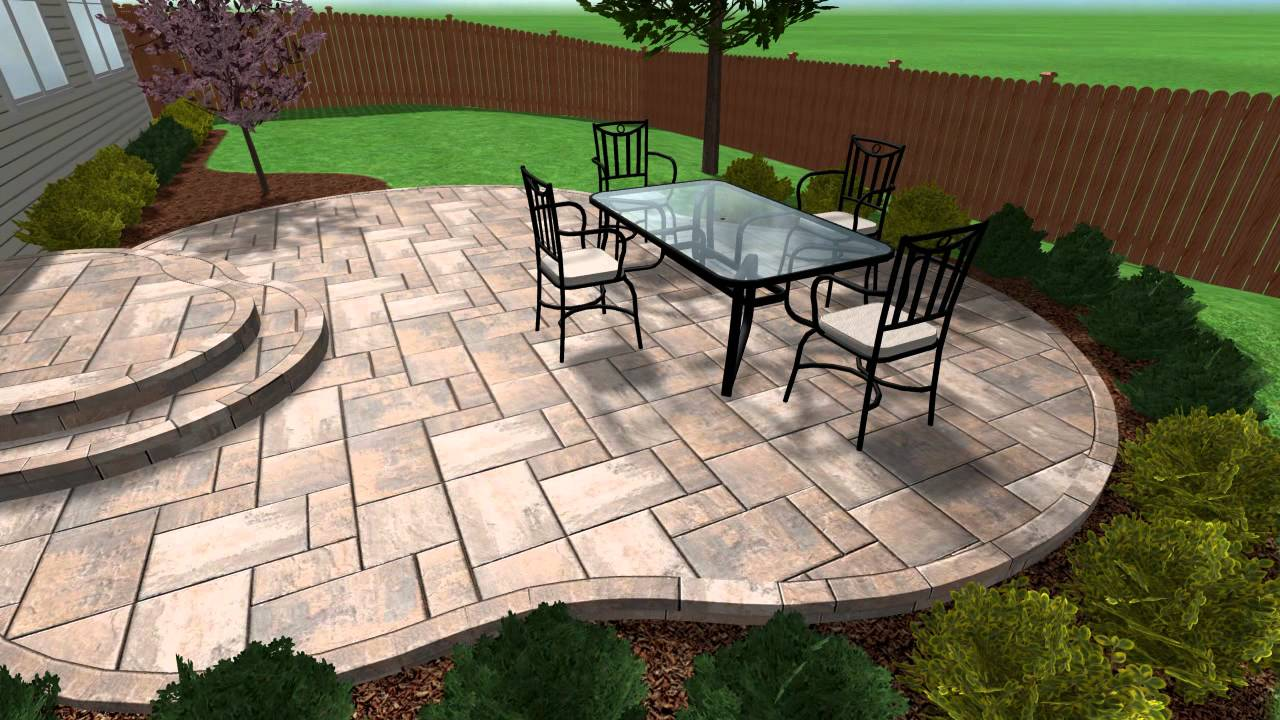 Stamped Concrete Patio and Steps in Aurora IL by Chicago Brick Paving LLC  YouTube